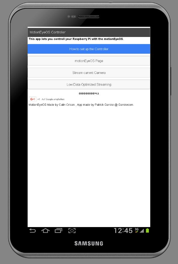 MotionEyeOS - Surveillance ARM for Android - APK Download