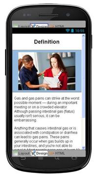 Gas And Gas Pains Information poster