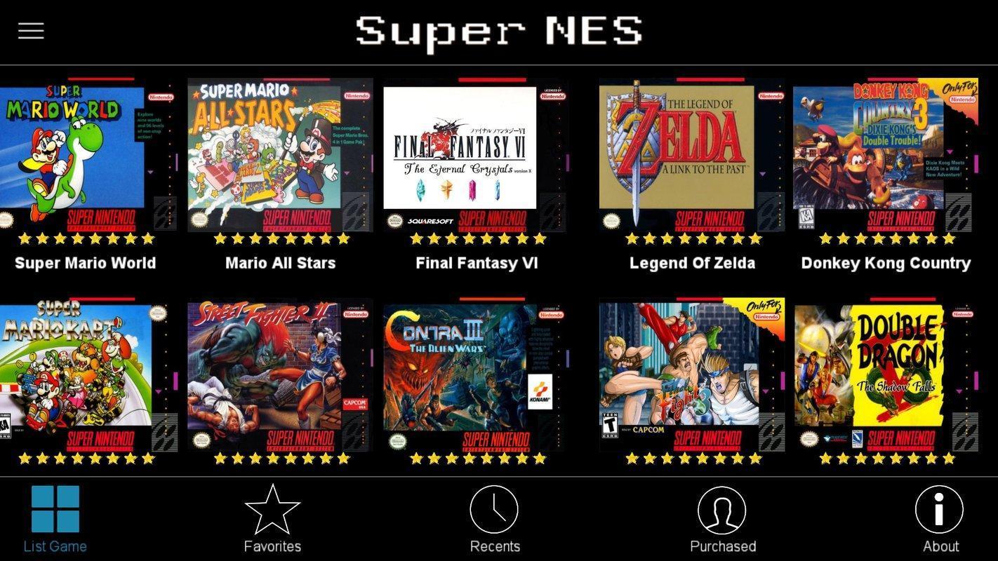 top snes emulator games