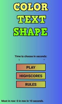Color Text Shape poster