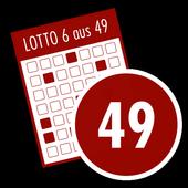 6 aus 49 Lottozahlen Generator icon