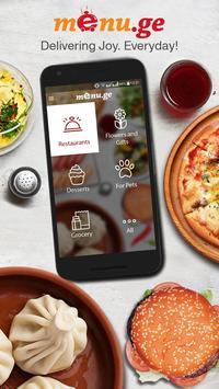 Menu.ge — restaurant food delivery poster