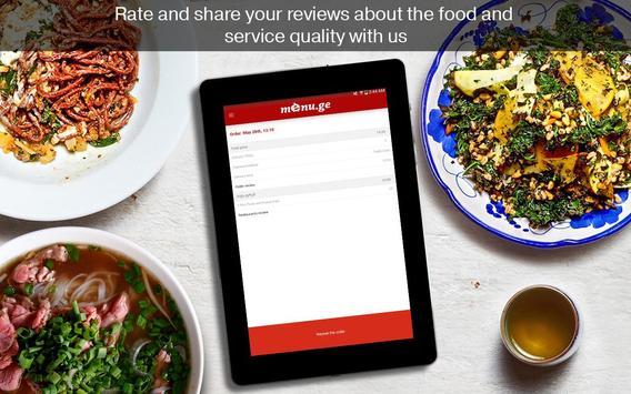 Menu.ge — restaurant food delivery apk screenshot