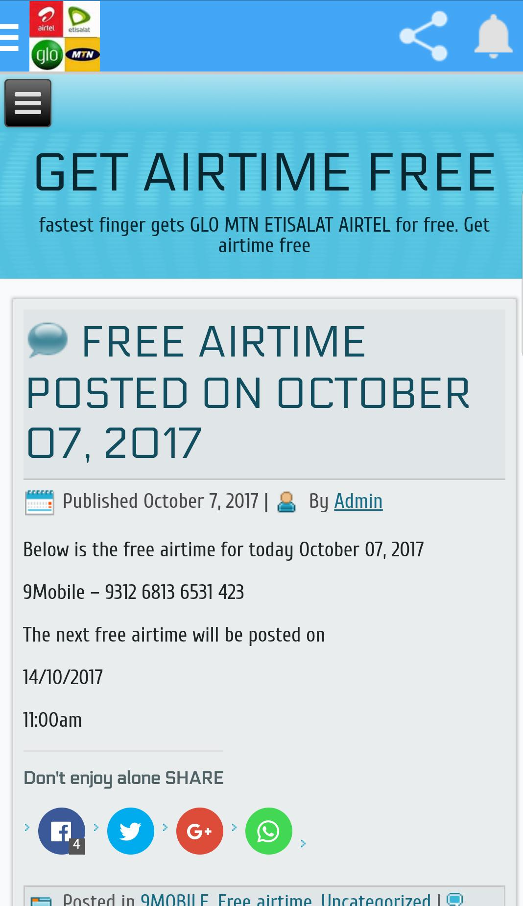 How To Get Free Airtime