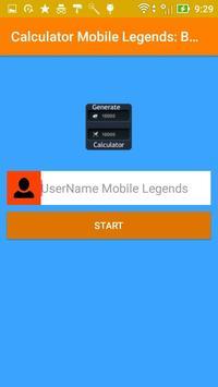 Diamond Mobile Legends Bang Bang Calculator screenshot 1