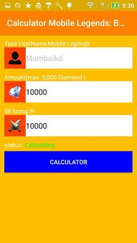 Diamond Mobile Legends Bang Bang Calculator screenshot 3