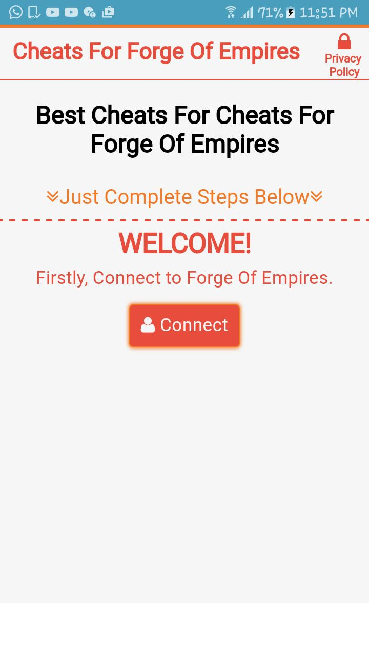 como hackear forge of empires android