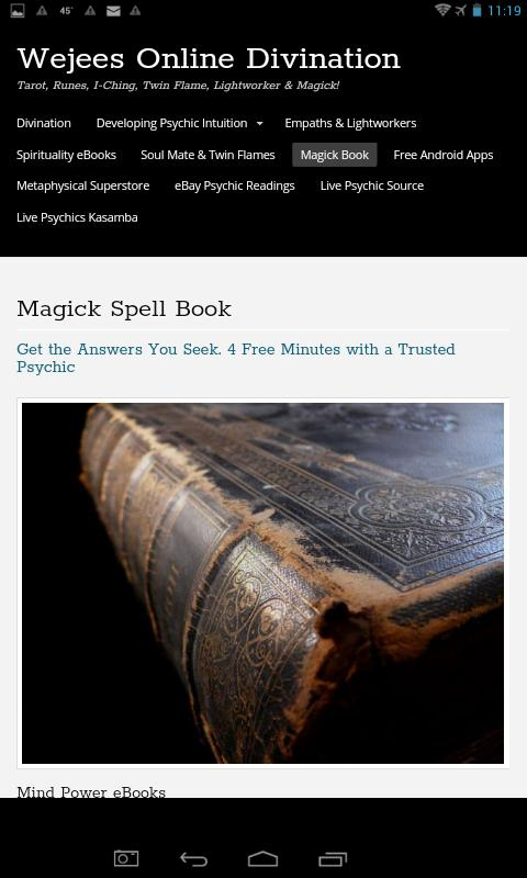 Book of Shadows White Wiccan Magick Grimoire for Android