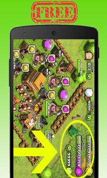 Gems For Clash Of Clans&Royale screenshot 1
