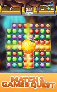 Gem Quest - Jewelry Challenging Match Puzzle screenshot 17