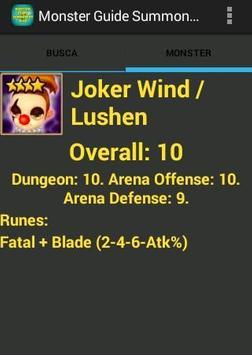 Monster Guide Summoners War apk screenshot