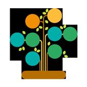 Genealogic tree icon