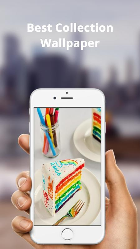 rainbow cake hd wallpaper for android apk download