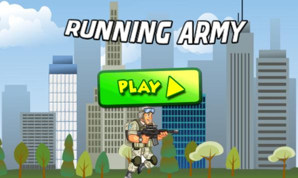 Running Army poster