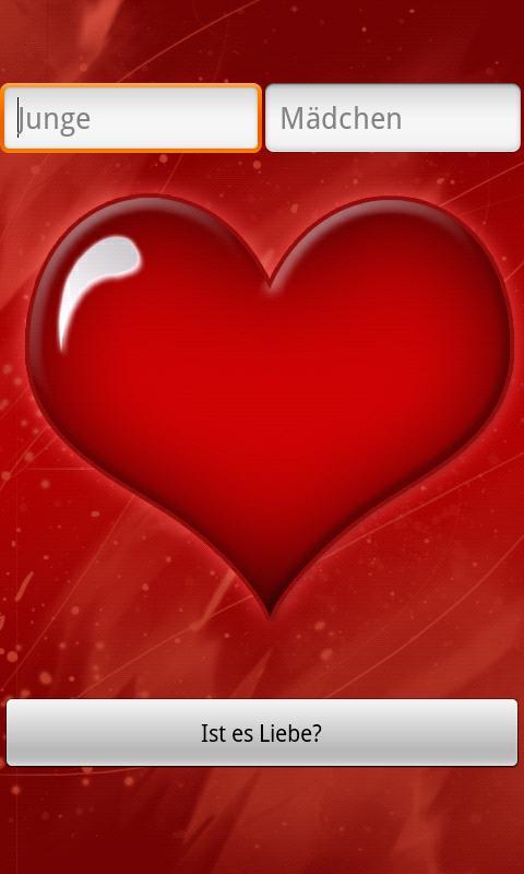 Liebestest Liebe