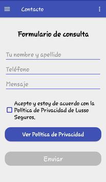 Lusso Seguros screenshot 4