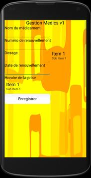 Gestion Medics Version Mobile apk screenshot