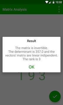 Matrix Analysis apk screenshot