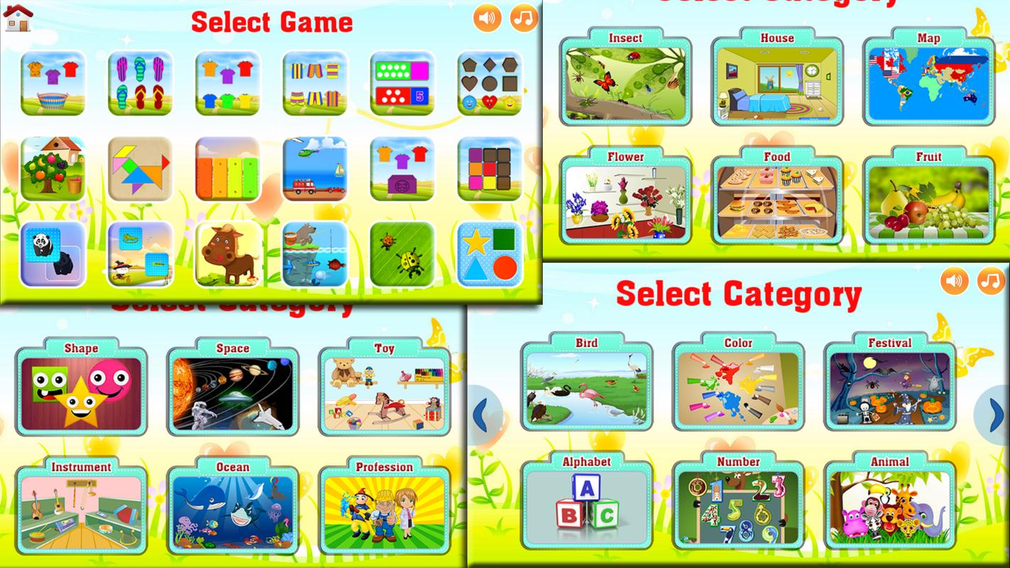 Learn Alphabets Games Kids Learn Colors with Puzzle ABC ...