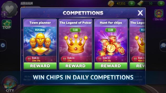 Poker City - Texas Holdem screenshot 6