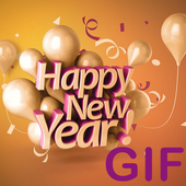 Happy New Year GIF 2018 icon