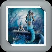 Mermaid under the sea GIF Live Wallpaper icon