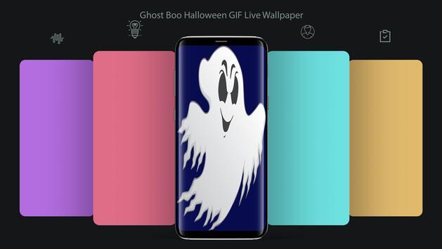 Ghost Boo Halloween GIF LWP apk screenshot