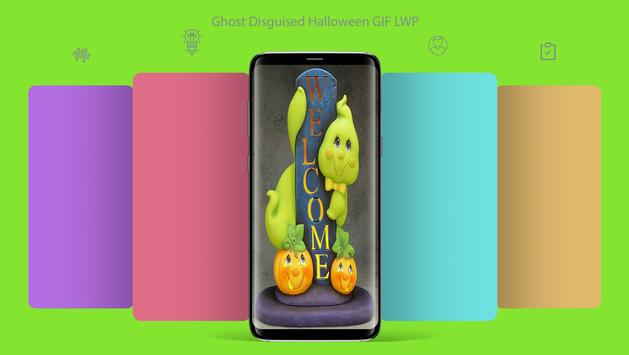 Ghost Disguised Halloween GIF LWP poster