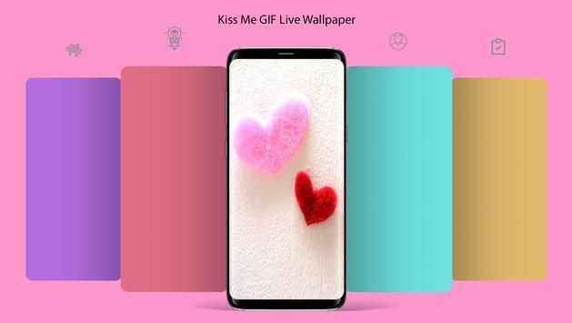 Kiss Me GIF Live Wallpaper poster