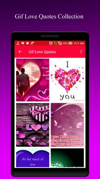 Gif Love Quotes Collection apk screenshot
