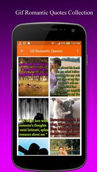 Gif Romantic Quotes Collection apk screenshot