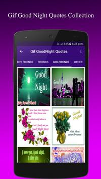 Gif GoodNight QuotesCollection apk screenshot