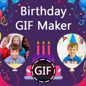 Birthday GIF Maker with Name & Photo icon
