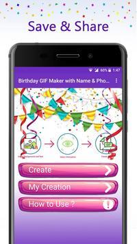 Birthday GIF Maker with Name & Photo screenshot 4