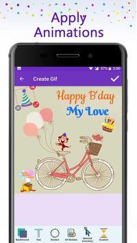 Birthday GIF Maker with Name & Photo screenshot 1