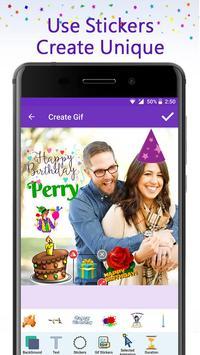 Birthday GIF Maker with Name & Photo screenshot 3