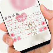 Girl love Balloon Keyboard icon