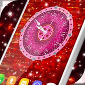 Glitter & Diamonds Clock Wallpaper icon