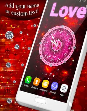 Glitter & Diamonds Clock Wallpaper screenshot 1