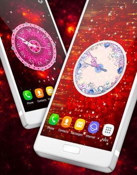 Glitter & Diamonds Clock Wallpaper screenshot 3