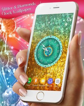 Glitter & Diamonds Clock Wallpaper screenshot 4