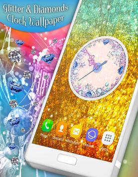 Glitter & Diamonds Clock Wallpaper screenshot 6