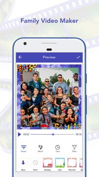 Family Photo To Video Maker With Song poster