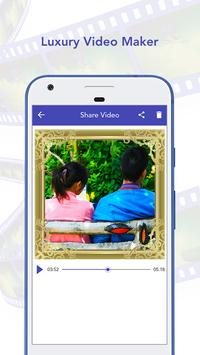 Luxury Video Maker with Music apk screenshot