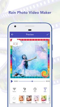 Rain Photo Video Maker apk screenshot