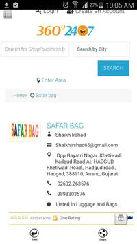 SAFAR BAGS screenshot 2