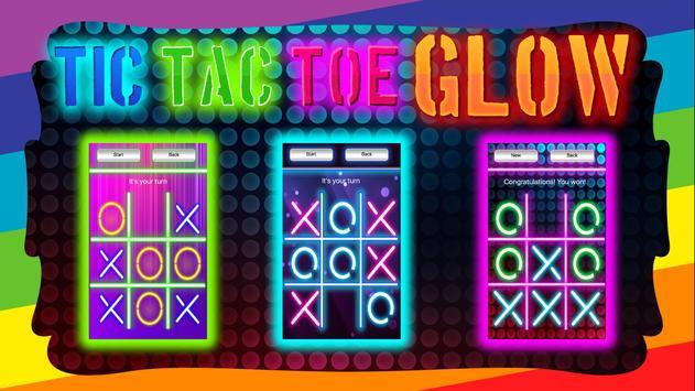 Tic Tac Toe Glow apk screenshot