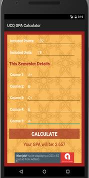 UCQ GPA Calculator screenshot 1