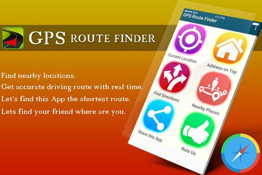 GPS Route Finder Maps Navigation & Direction poster