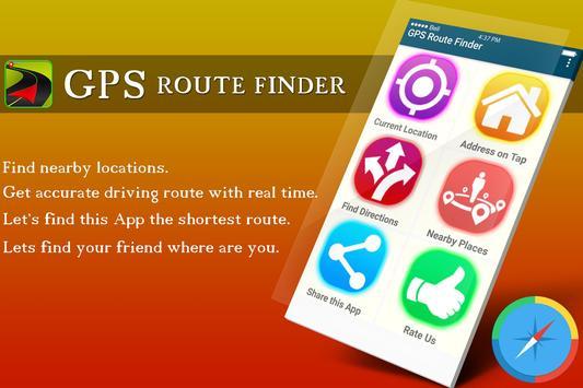 GPS Route Finder Maps Navigation & Direction poster